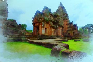 Asian stone castle Ruins