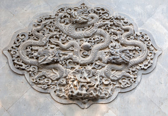 Relief im Sommerpalast in Peking in China