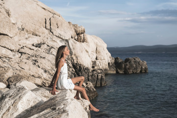 teenager am Meer