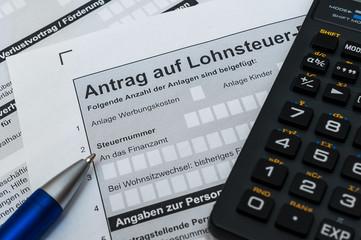 Antrag auf Lohnsteuer-Ermäßigung