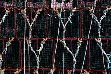 Stack of fishing traps