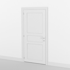 closed door 3D