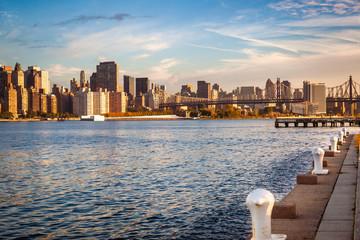 Qeensboro Bridge and East River, New York City, USA