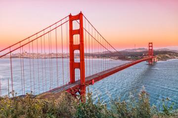 Golden Gate Bridge at Night from Marin Headlands Fototapete