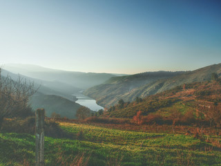 Landscape in Ribeira Sacra  in Ourense - Spain