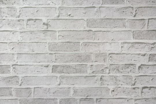White brick wall a weathered texture for background