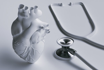 Stethoscope and heart concept