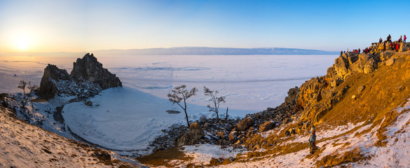 Lake Baikal in winter