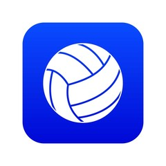 Black volleyball ball icon digital blue for any design isolated on white vector illustration