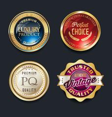 best quality super sale golden retro vintage label