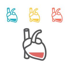 Anemia and Hemophilia icon. Haemophilia disease awareness symbol. Vector illustration.