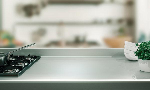 Kitchen bench or kitchen top