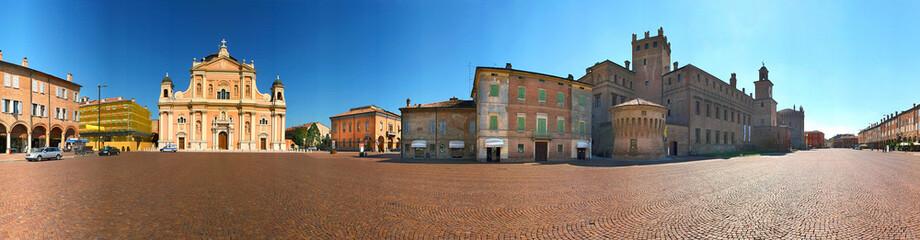 Carpi, piazza dei Martiri, castello e duomo a 360° Fototapete