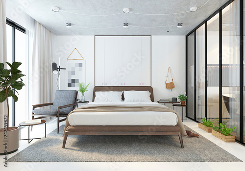 3d Render Of Bedroom Stock Photo And Royalty Free Images On Fotolia
