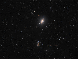 Sombrero Galaxy (M104) in constellation Virgo is spiral galaxy located approx 30 million light years from Earth