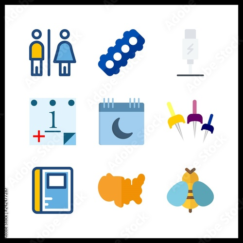 9 close icon  Vector illustration close set  notebook and