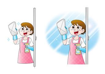 窓ふきー掃除