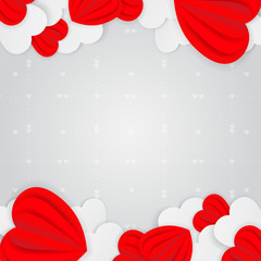 Greeting card for Happy Valentine's Day.For  banners,wallpapers and craft paper.Vector illustration