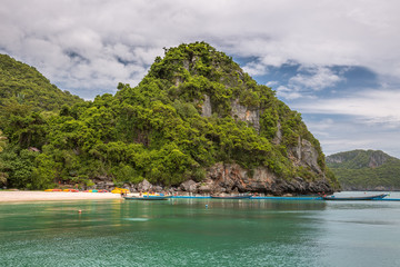 Islands in the sea at Angthong national marine park, Koh Samui, Suratthani, Thailand