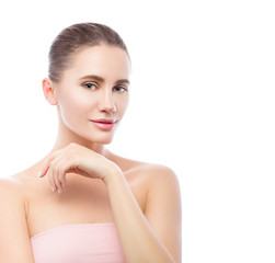 Beautiful Spa woman. Beauty portrait isolated on white background