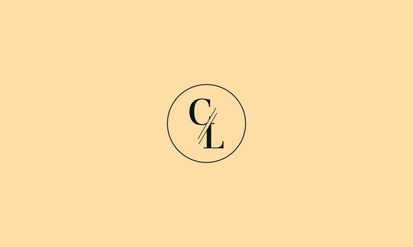 LETTER C AND L LOGO WITH CIRCLE FRAME FOR ILLUSTRATION OR LOGO DESIGN USE