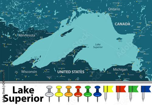 Map of Lake Ontario\