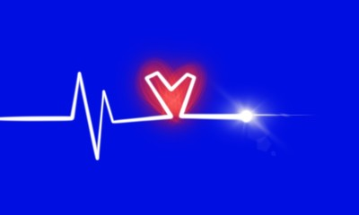Cardiogram cardiograph oscilloscope screen illustration background - Illustration