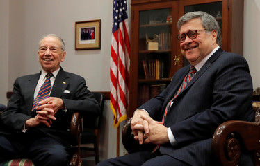 Senator Charles Grassley meets with U.S. Attorney General nominee William Barr in Washington