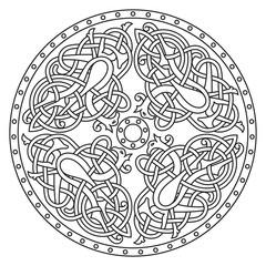 Ancient celtic mythological symbol of bird. Celtic knot ornament