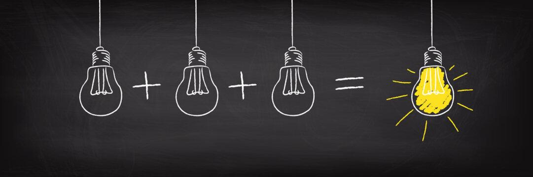 Teamwork Concept Light Bulb Idea