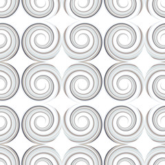 Abstract geometric seamless pattern with spiral shapes.