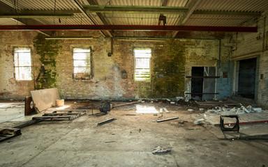 Derelict factory interior