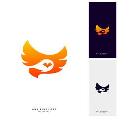 Owl Logo Design Template Vector. Bird logo Concept Vector