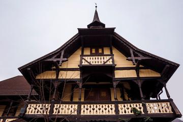 Sinaia documentary project. Abandoned house in Sinaia city, Prahova Valley, Romania