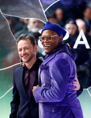 "Actors Samuel L. Jackson and James McAvoy attend the European premiere of ""Glass"" in London"