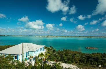 Verandah with view, Exuma, Bahamas