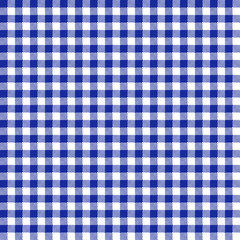 Blue Gingham Seamless Pattern - Traditional blue and white gingham seamless pattern