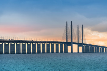 Foto auf Acrylglas Bridges The Oresund bridge