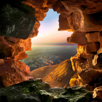 View from Masada mountain