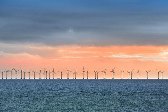 Offshore Wind Turbines near Copenhagen