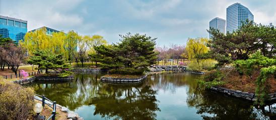 Fotobehang Seoel Yeouido Park in Seoul, Korea