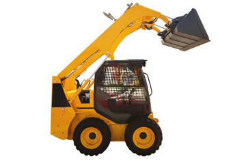 Loader excavator construction machinery isolated with .clipping pathLoader excavator construction machinery isolated with .clipping path.Loader.