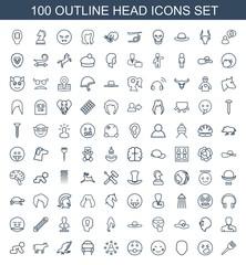 100 head icons