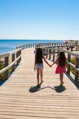 Girls on the Boardwalk, Bouctouche New Brunswick, Canada