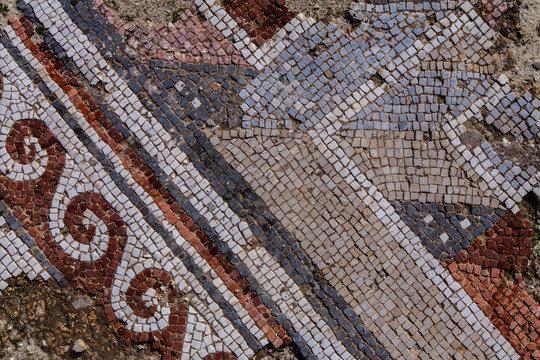 antique floor mosaic in Jordan
