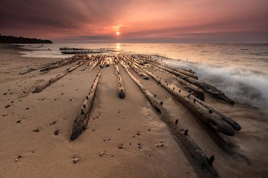 Shipwreck on Lake Superiors Graveyard Coast