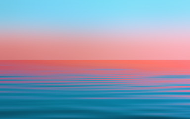 Abstract Motion Blurred Blue With Pink Seascape Background