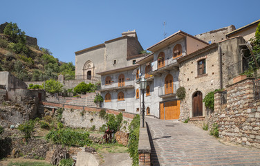 The hilltop village of Savoca in Sicily