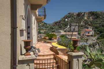 The hilltop village of Savoca in Sicily
