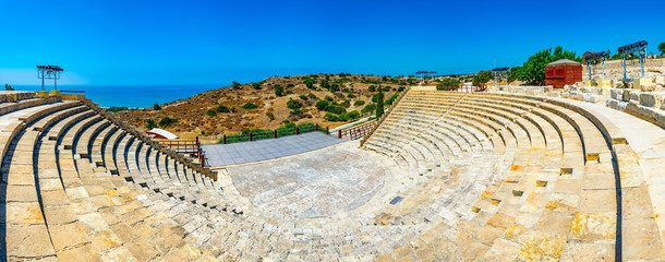 Garden Poster Cyprus Roman theatre in the ancient Kourion site on Cyprus